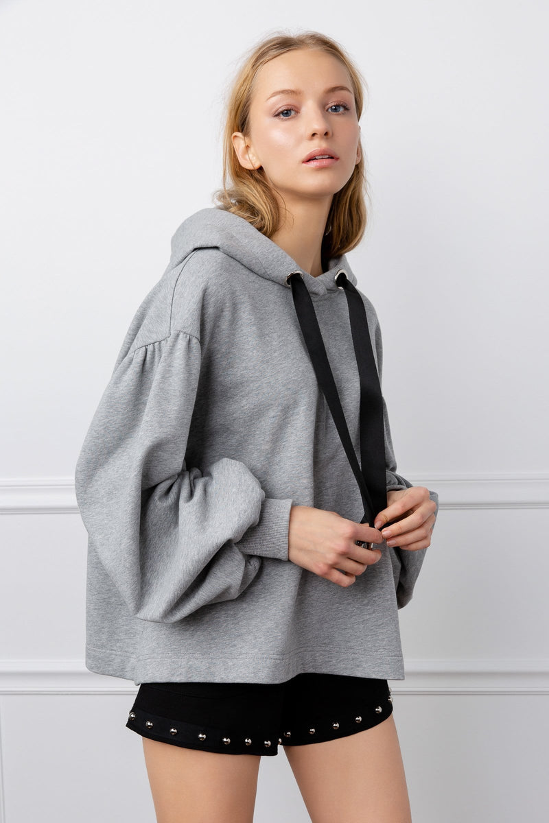Grey Oversize Hoodie by J.ING women's clothing