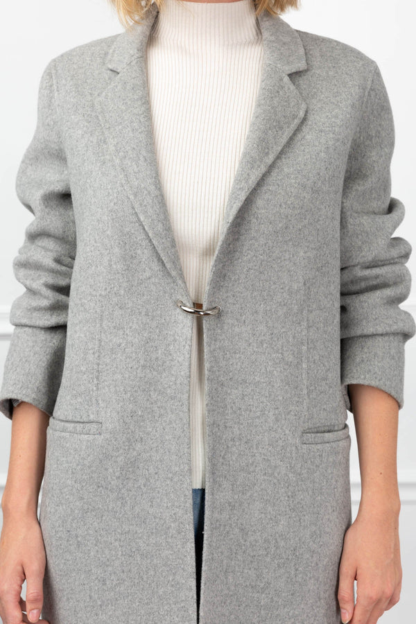 Cloud 'D' Coat Light Grey in Coats & Jackets by J.ING - an L.A based women's fashion line