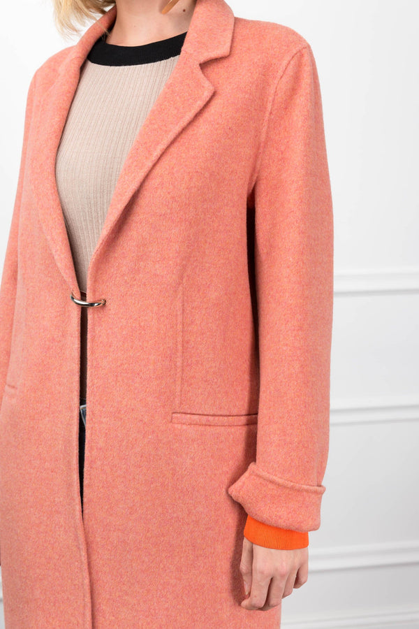 Cloud 'D' Coat Coral in Coats & Jackets by J.ING - an L.A based women's fashion line