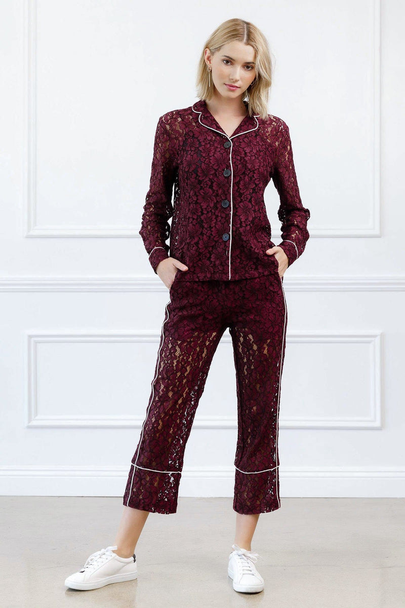 Corey Lace Pants in Pants by J.ING - an L.A based women's fashion line