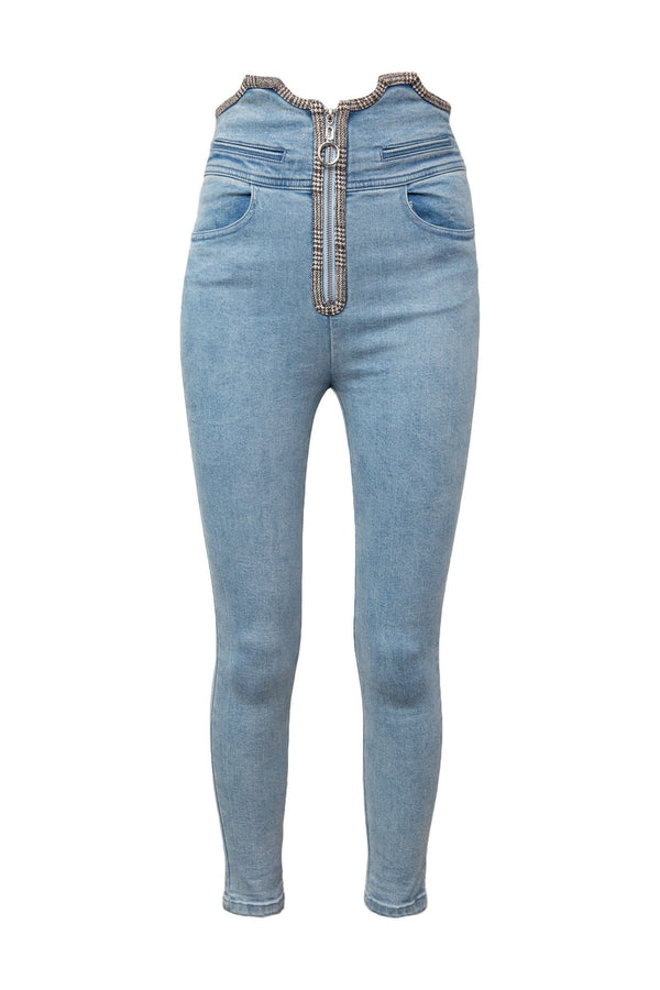 Squeeze Denim Cropped Skinnies