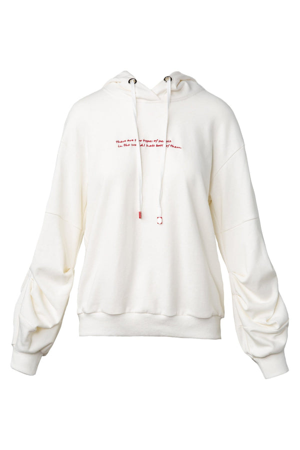 Emmy Embroided White Hoodie