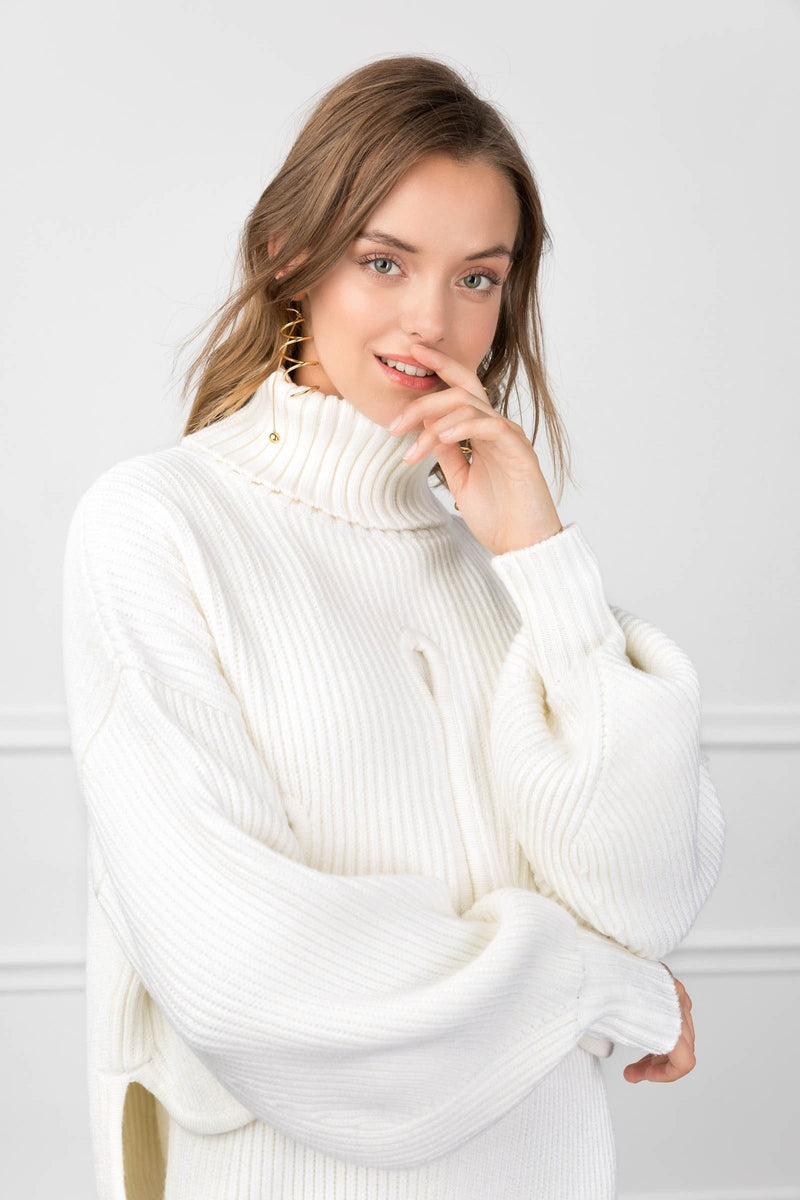 Dorothy Ivory Sweater in Knitwear by J.ING - an L.A based women's fashion line