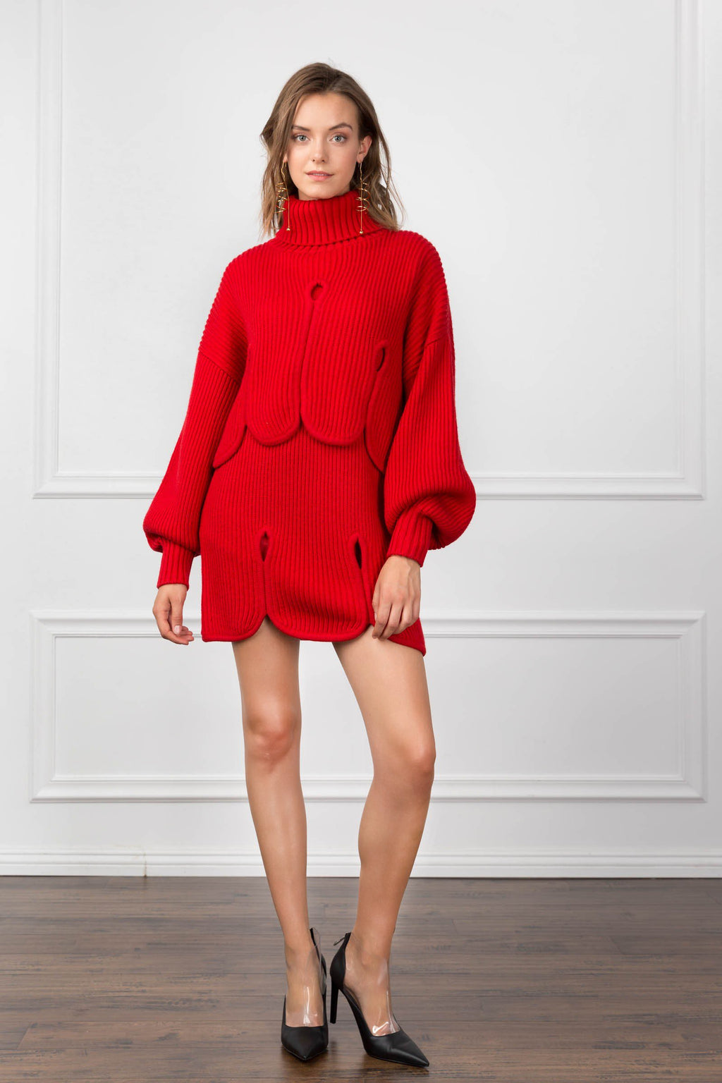 Dorothy Scarlet Sweater in Knitwear by J.ING - an L.A based women's fashion line