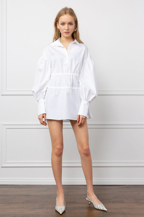 White Oversize Tunic with Long Poet Sleeves | J.ING Women's Apparel