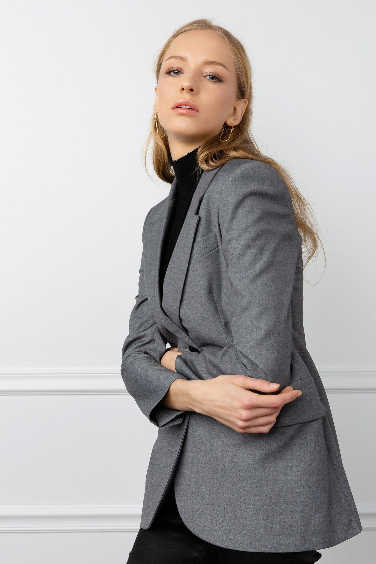 Muse Grey Fitted Blazer