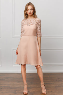 Gabrielle Lace Midi Dress in Dresses by J.ING - an L.A based women's fashion line