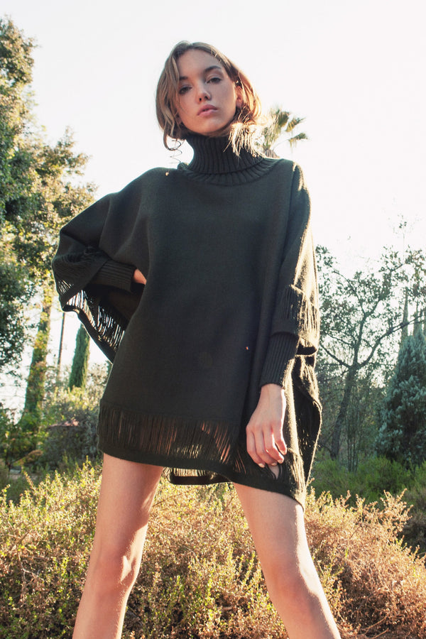 Gemma Poncho in Knitwear by J.ING - an L.A based women's fashion line