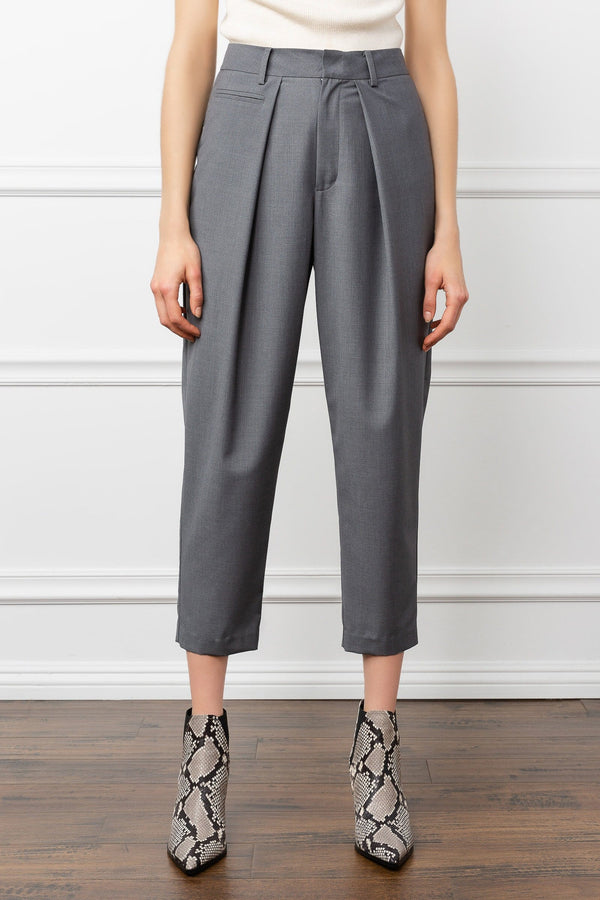 Basic Grey Women's Work Trousers | J.ING Women's Bottoms