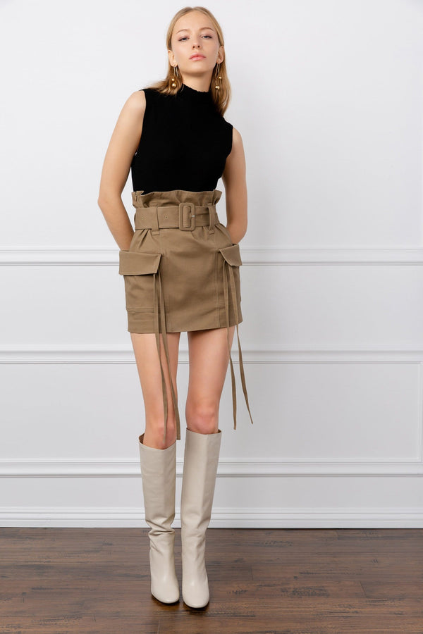 Cargo Colored Mini Utility Skirt | J.ING Women's Apparel