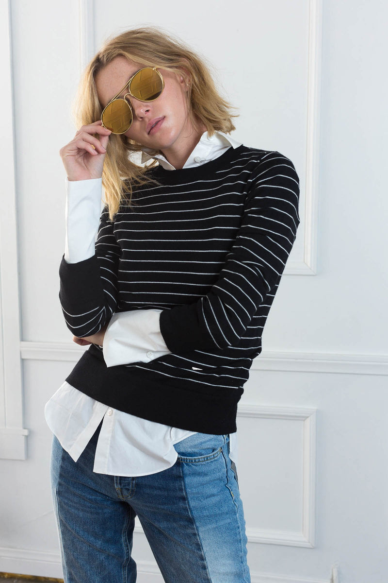 Hampton Black Sweater in Knitwear by J.ING - an L.A based women's fashion line