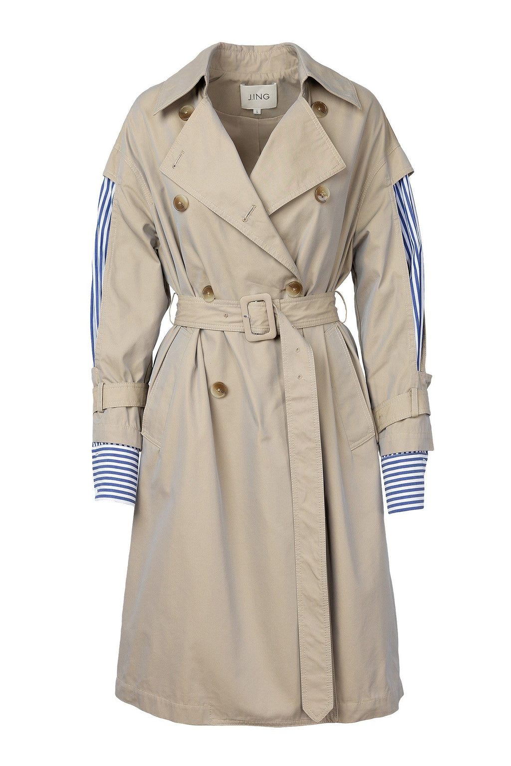 Nancy Peek-a-Boo Panel Trench Coat