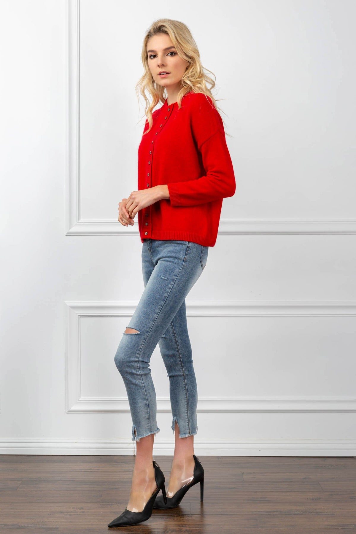 Honor Cardigan Red
