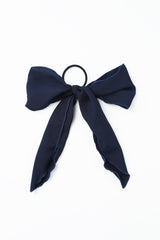 Navy Hair Bow