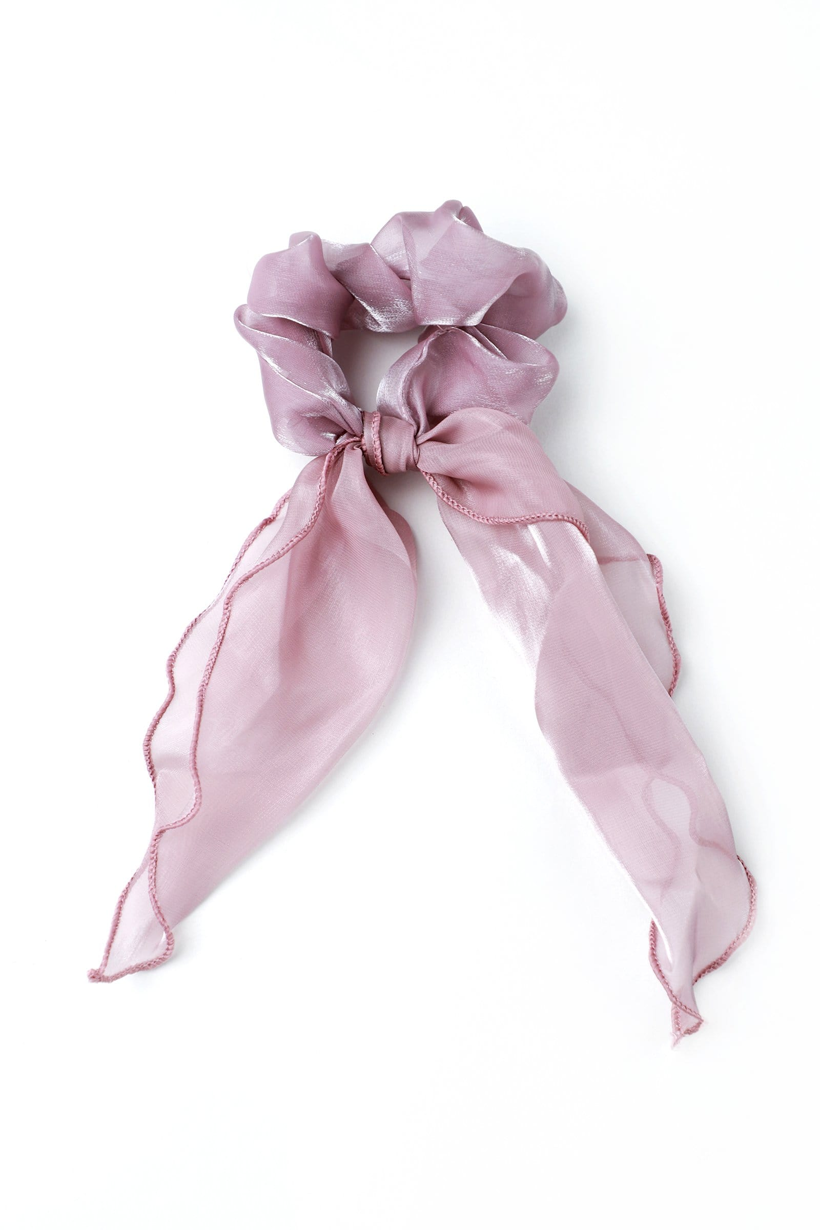 Pink Sheer Bow Scrunchie
