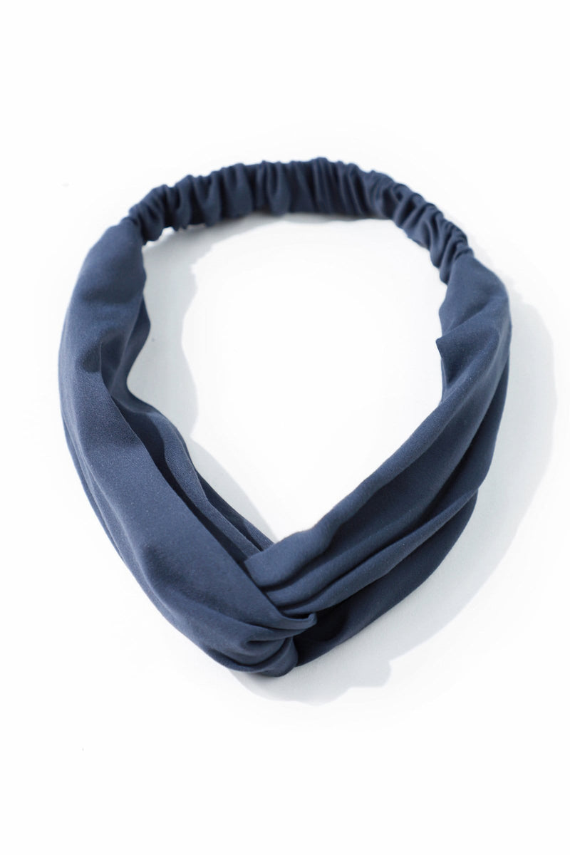 Twisted Blue Wrap Headband