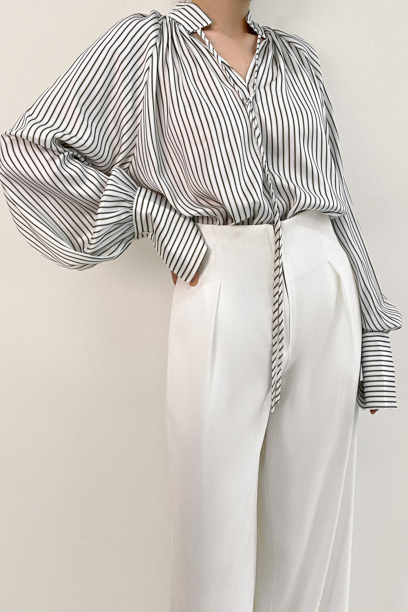 Camille Black Leather Shorts