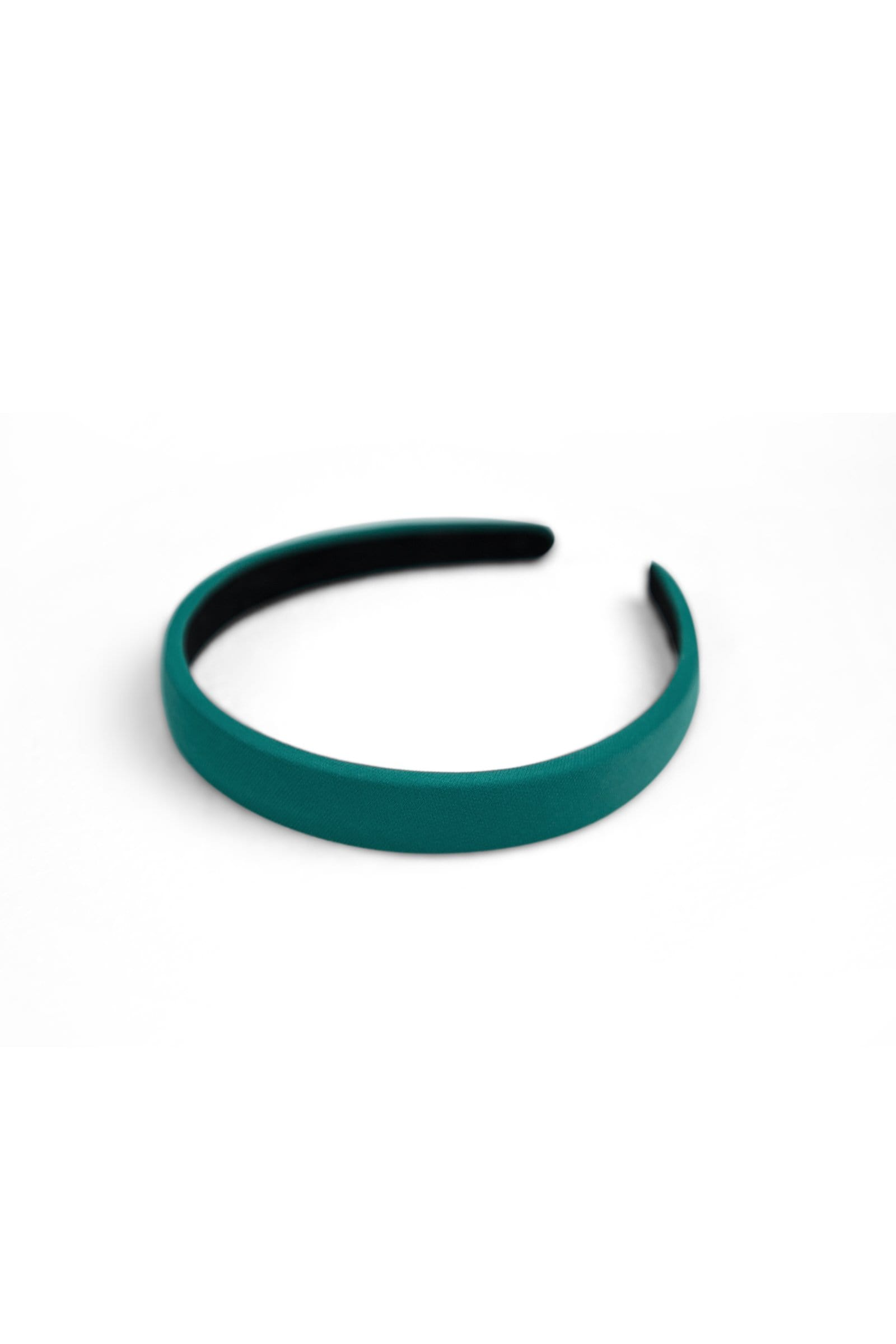 Satin Teal Headband