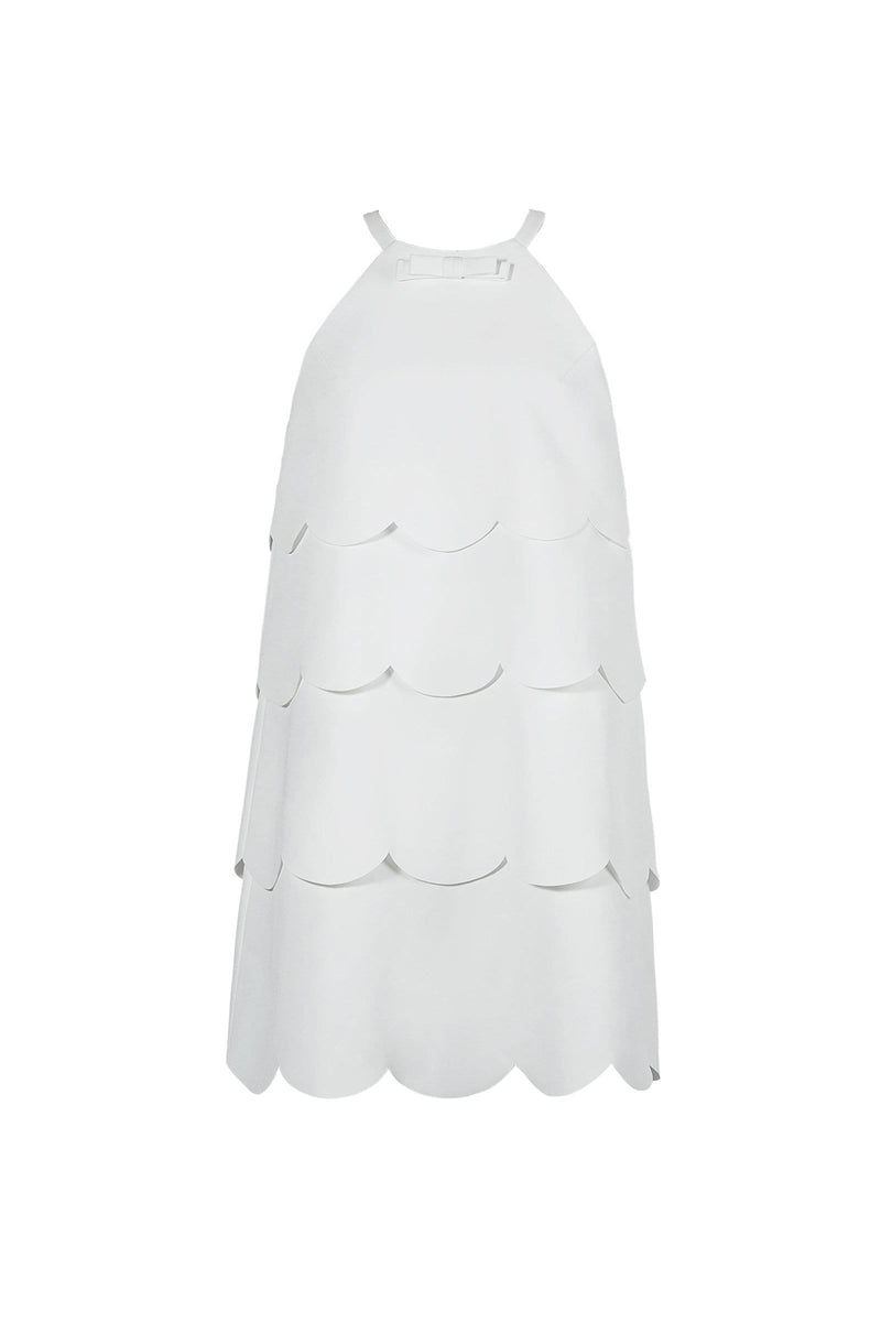 Petal White Mini Dress