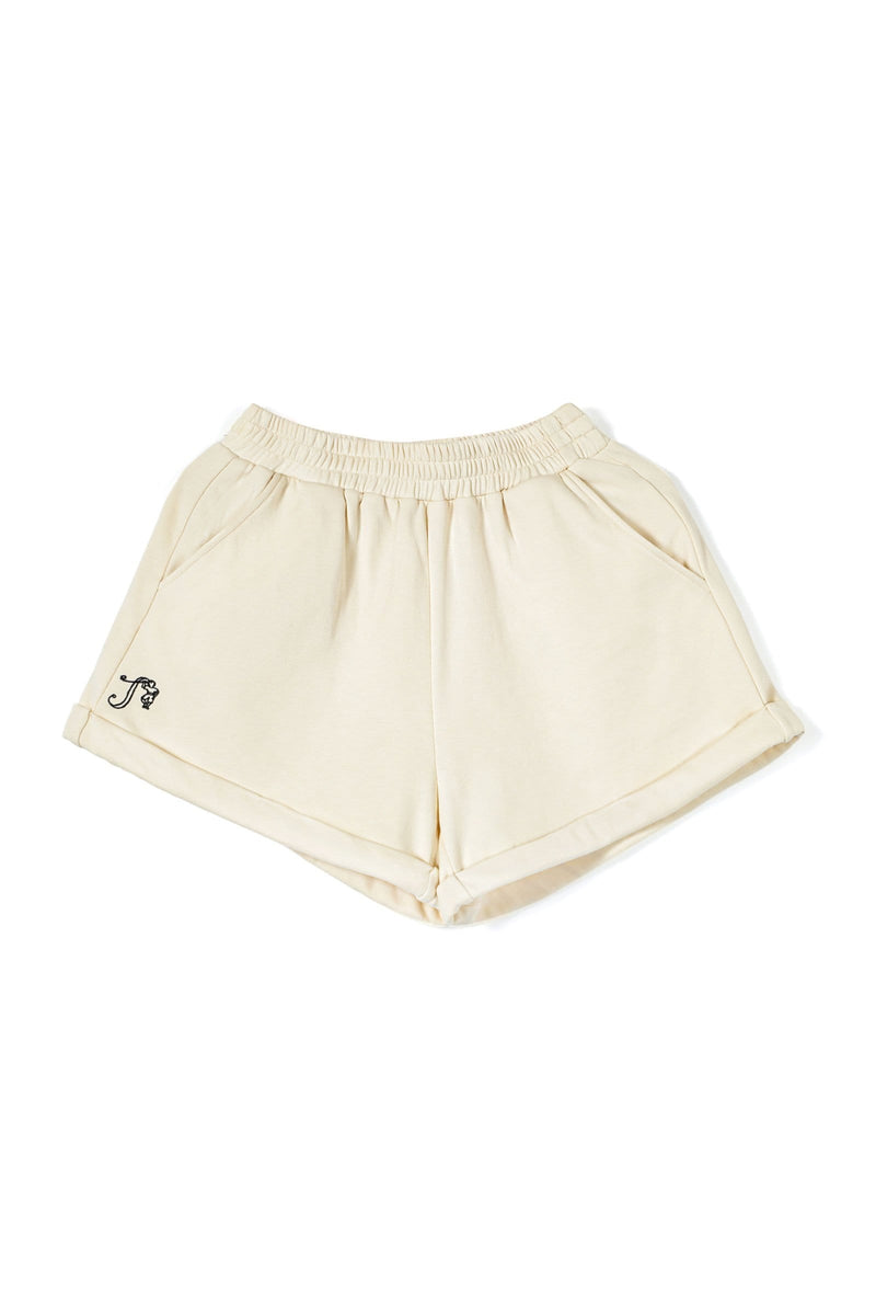 Butter Yellow Sweat Shorts