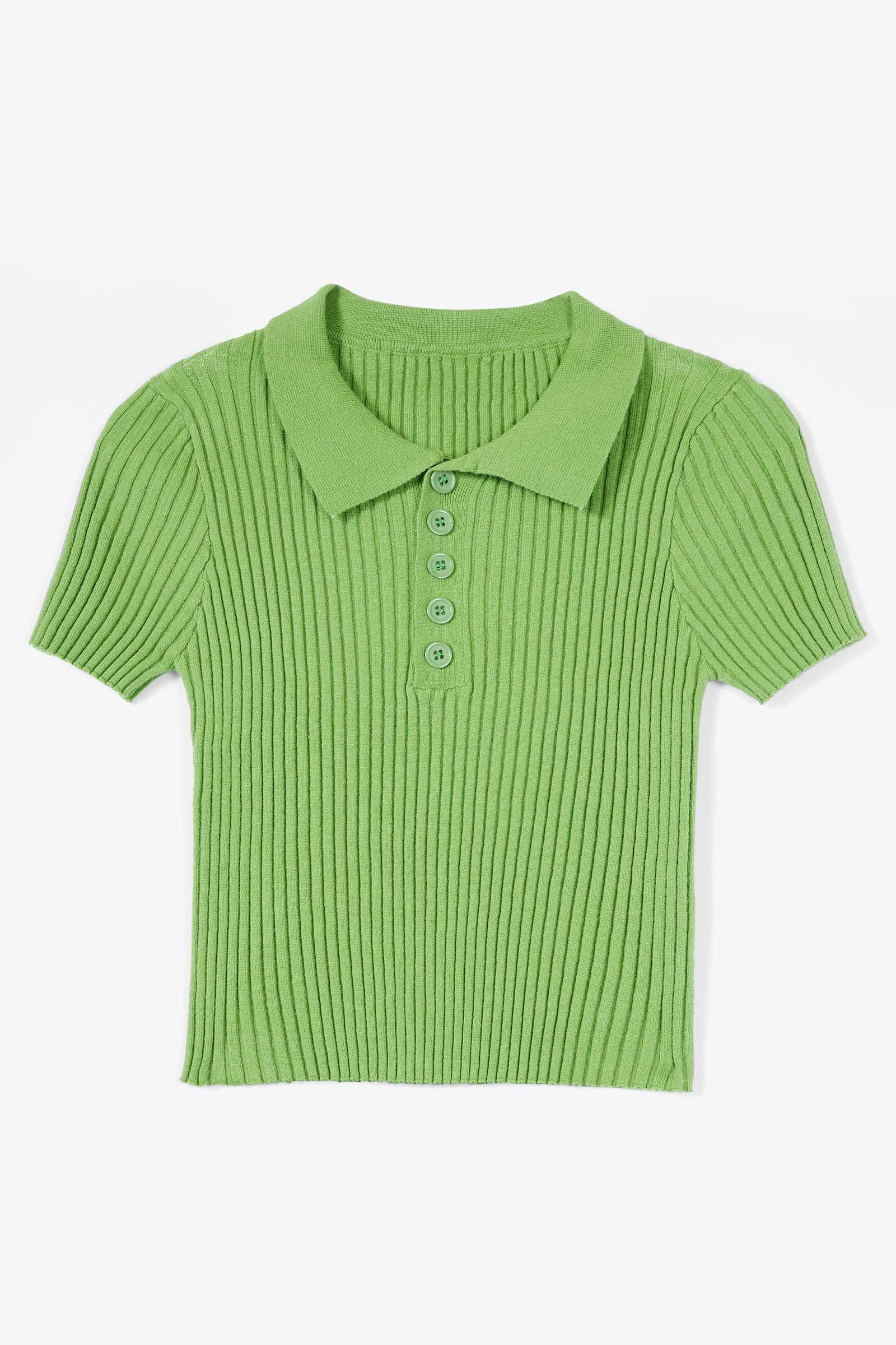 Skye Green Ribbed Top
