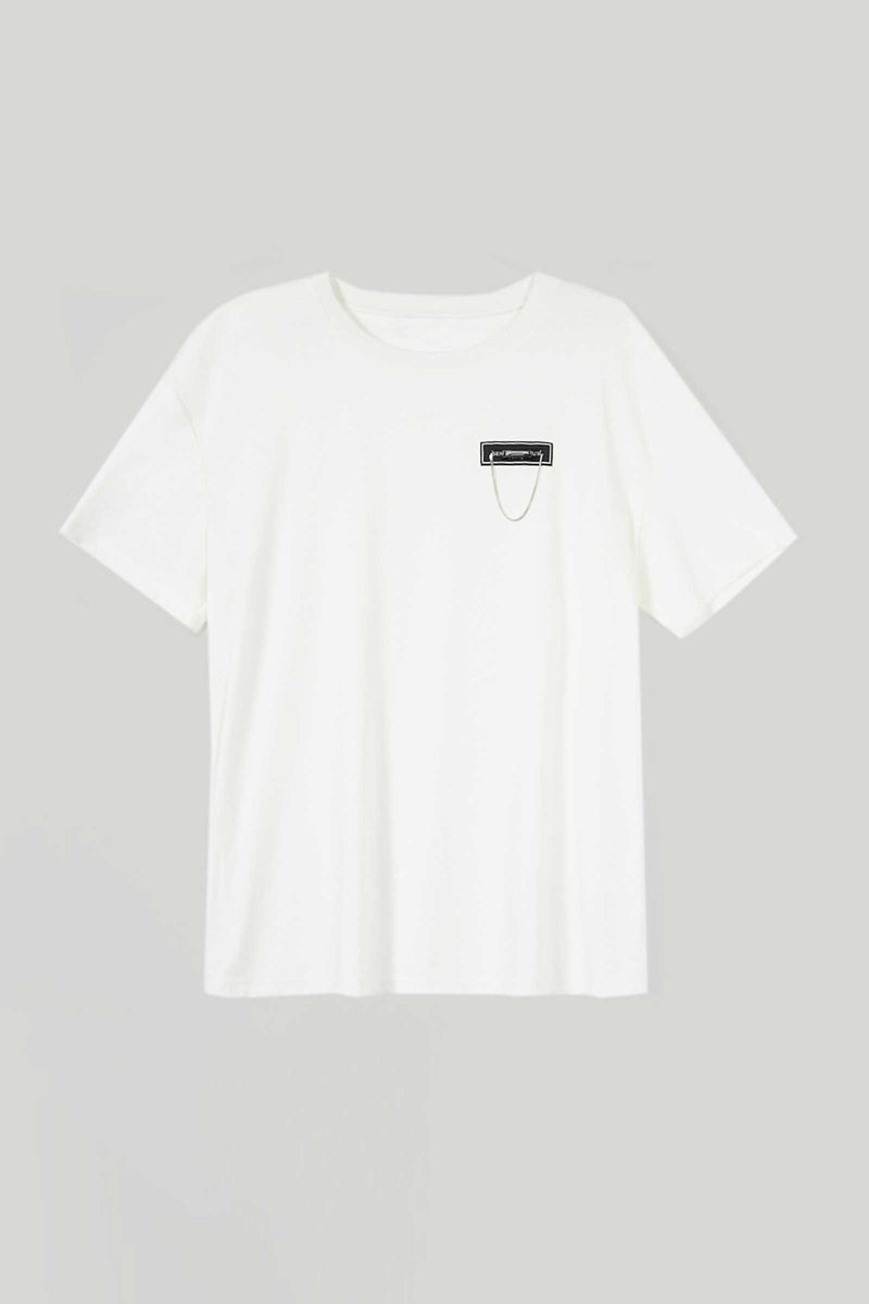 White Simple Chain T-Shirt