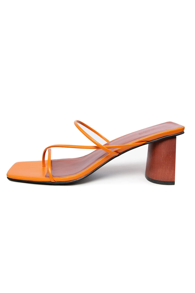 Iviana Orange Square Toe Sandals