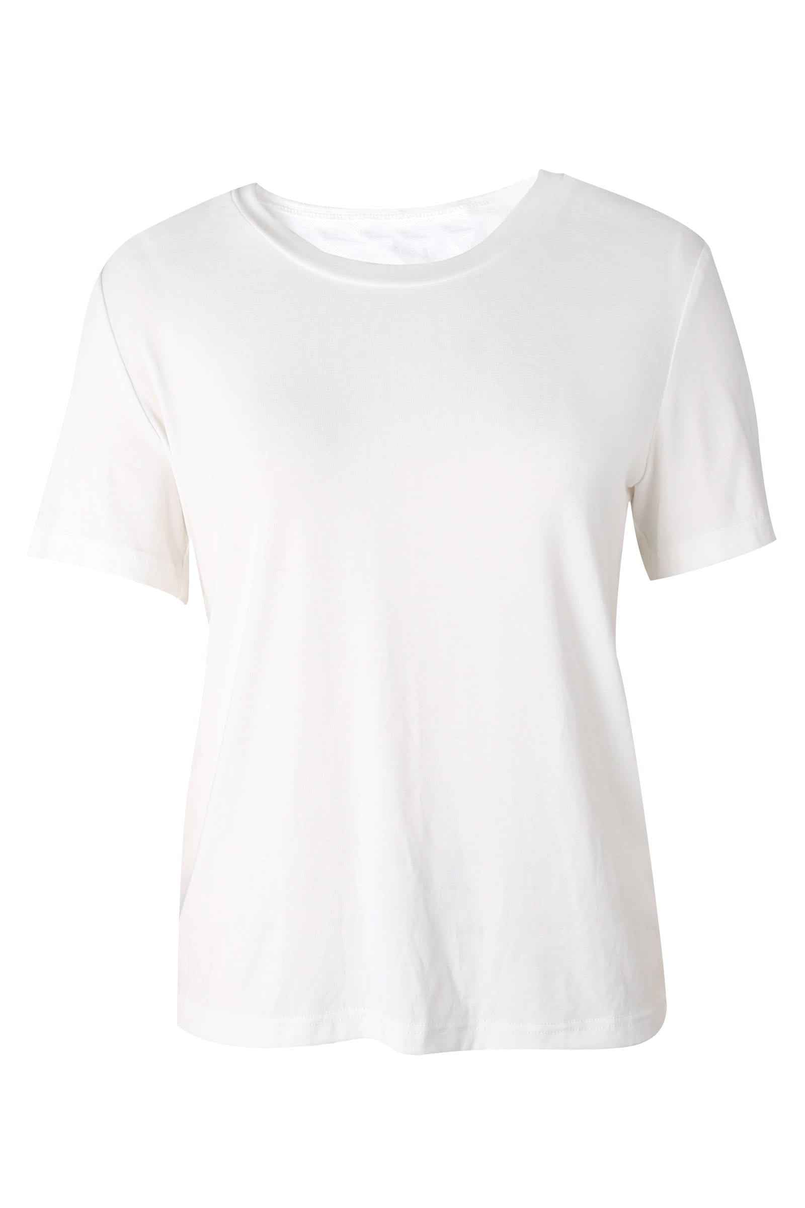 Essential White Round Neck Tee