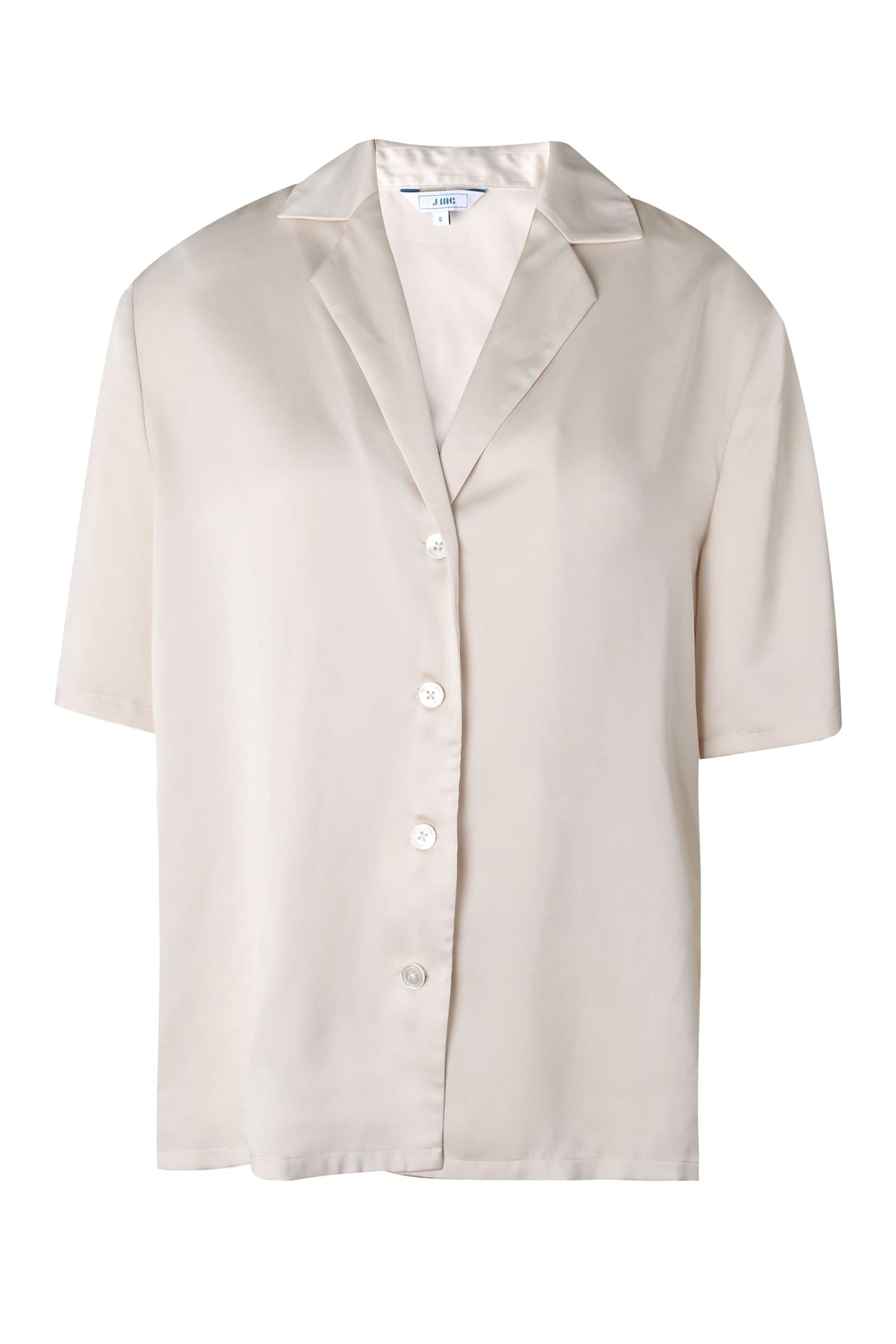 Pearly Sheen Satin Button Blouse