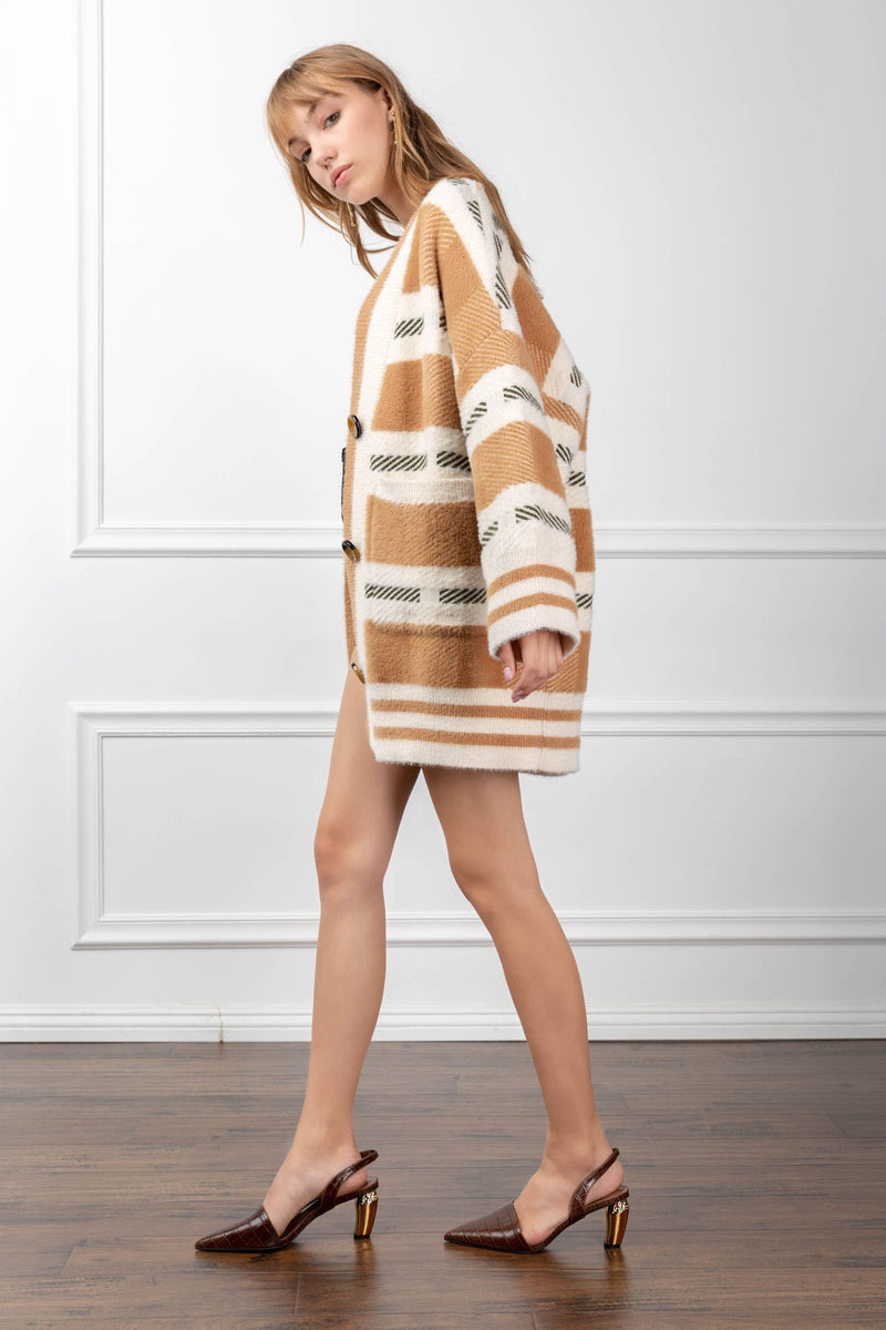 Imogen Sweater Burly Wood in Coats & Jackets by J.ING - an L.A based women's fashion line