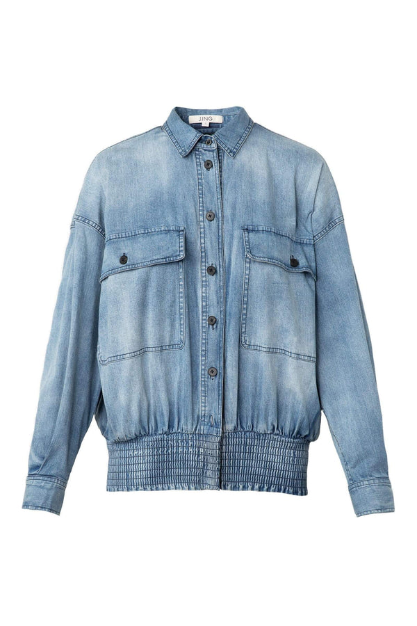 Joey Jean Button-Up Jacket