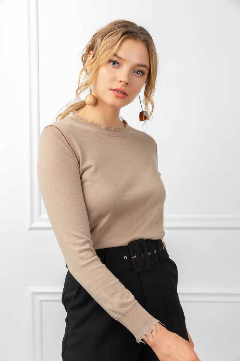 Jamie Sweater Tan