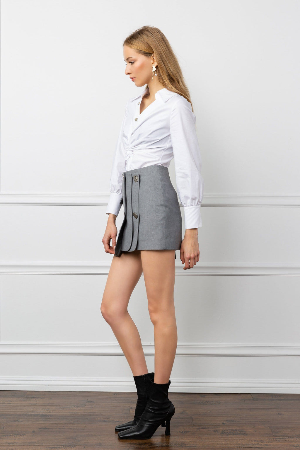 Level Up Grey Skirt