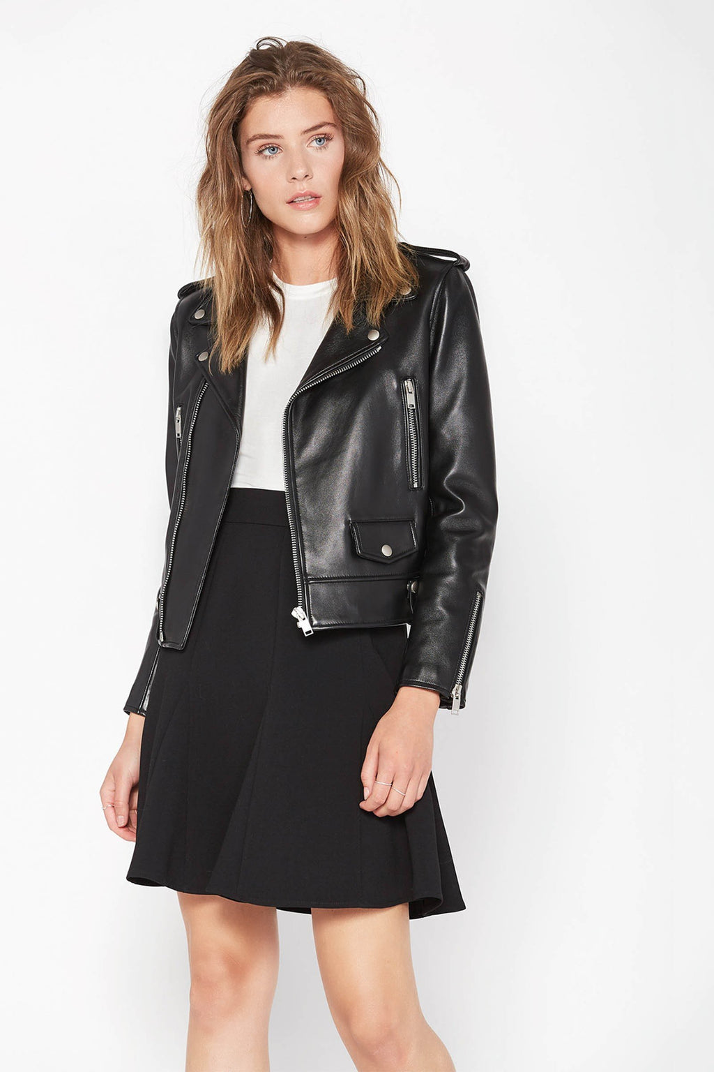 Joana Moto Jacket Black in Coats & Jackets by J.ING - an L.A based women's fashion line