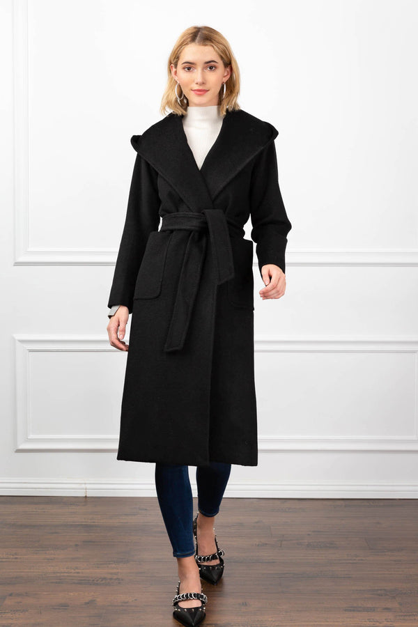Julia Hooded Coat in Coats & Jackets by J.ING - an L.A based women's fashion line