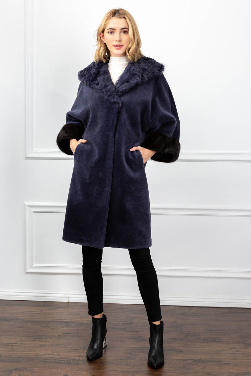 Katherine Navy Coat in Coats & Jackets by J.ING - an L.A based women's fashion line