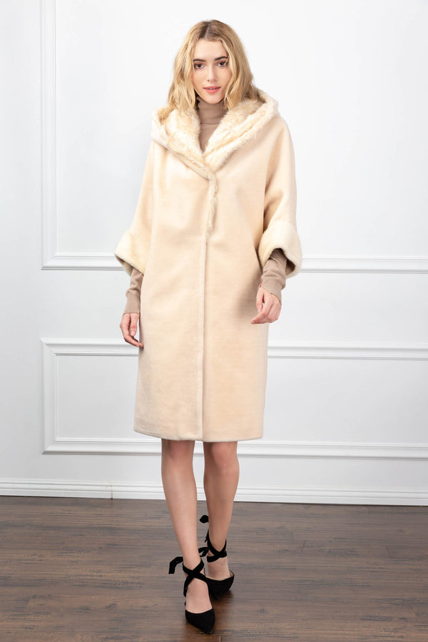 Katherine Coat Cream in Coats & Jackets by J.ING - an L.A based women's fashion line