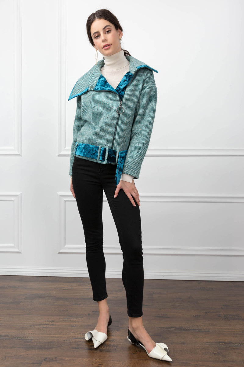 Kelly Biker Jacket in Coats & Jackets by J.ING - an L.A based women's fashion line