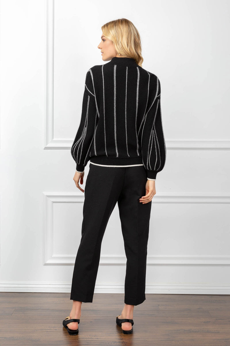 Kendra Striped Sweater Black in Tops by J.ING - an L.A based women's fashion line