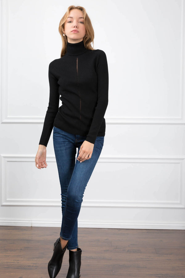 Kimmie Black Sweater in Knitwear by J.ING - an L.A based women's fashion line