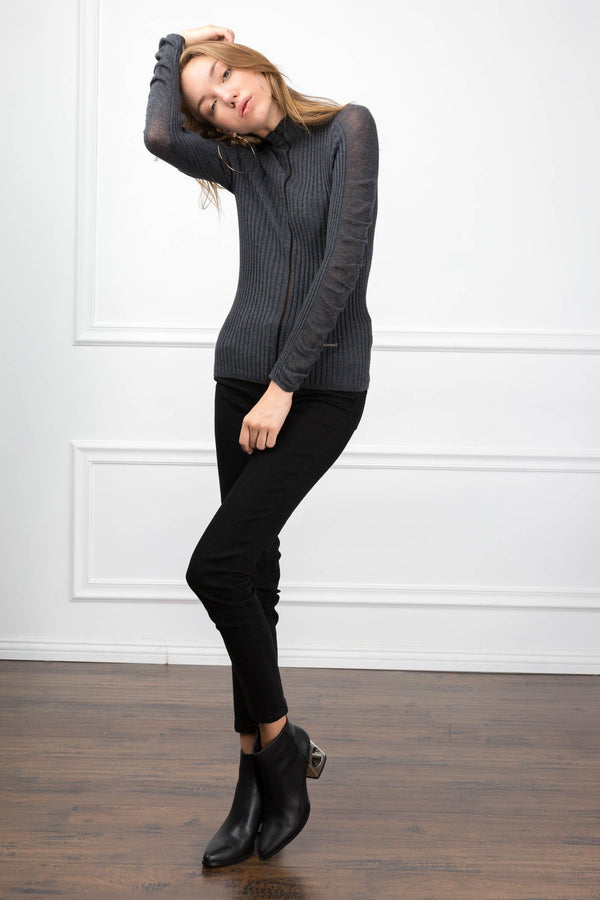 Kimmie Grey Sweater in Knitwear by J.ING - an L.A based women's fashion line