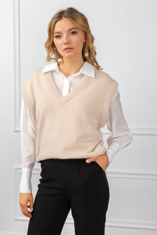 Kirstie Sweater Beige in Tops by J.ING - an L.A based women's fashion line