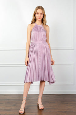Lavender Pleated Midi Skirt | J.ING Women's Apparel