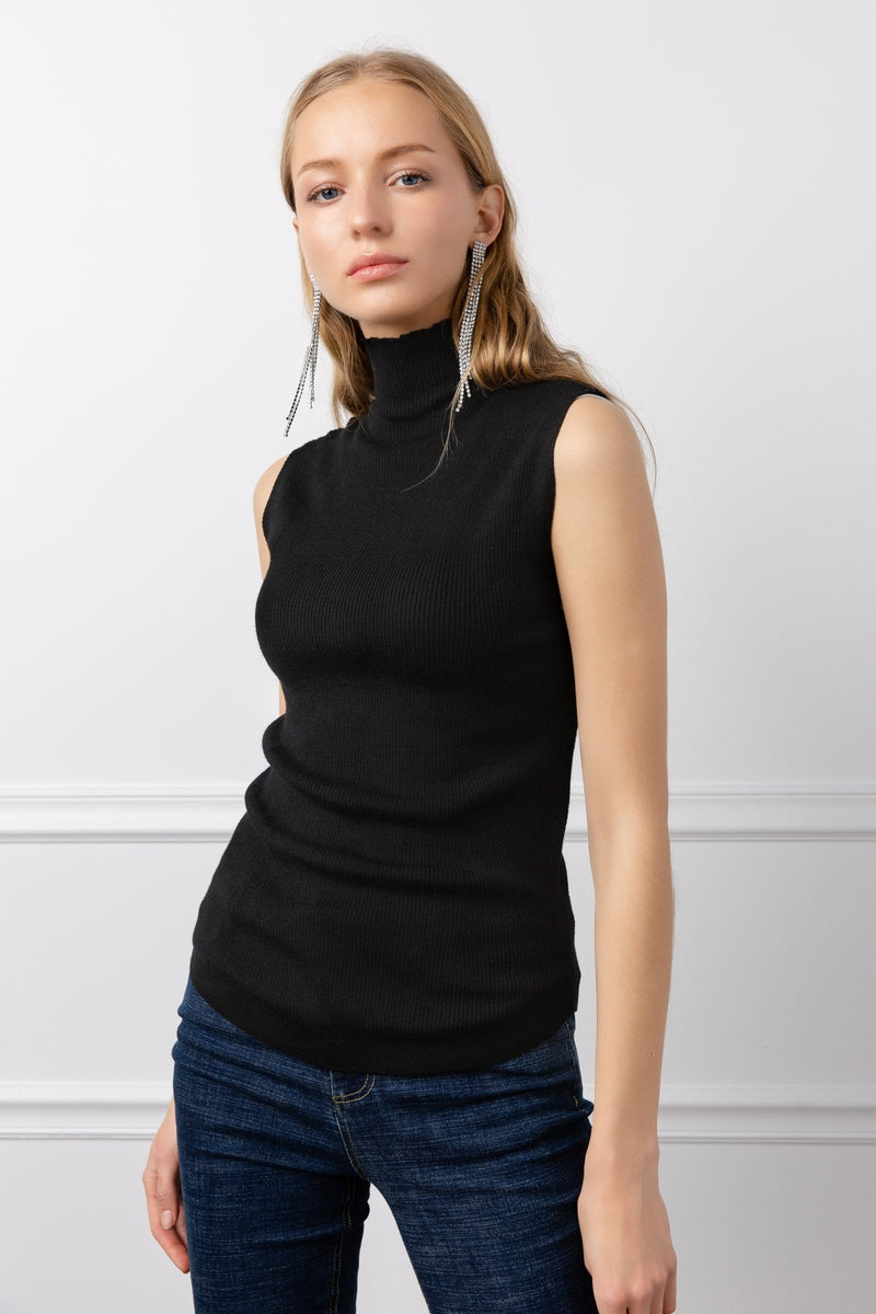 Logann Knit Top Black