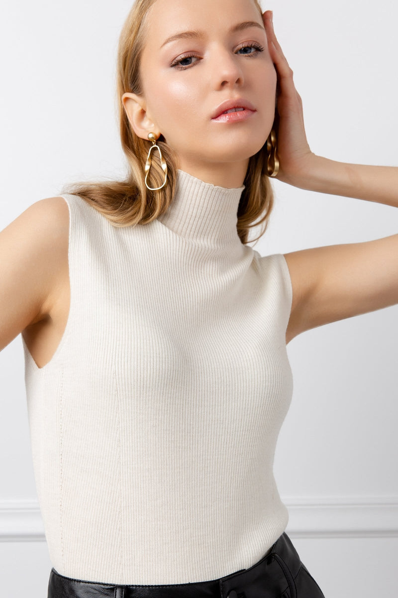 Logann Knit Top White