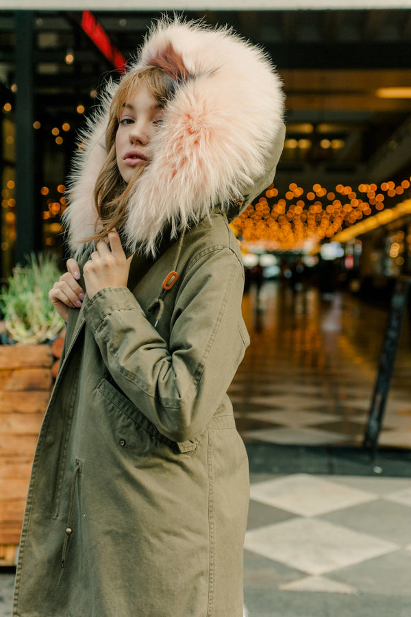 Reine Olive Parka in Coats & Jackets by J.ING - an L.A based women's fashion line