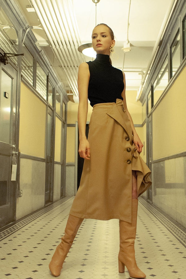Sahara Tan Midi Skirt