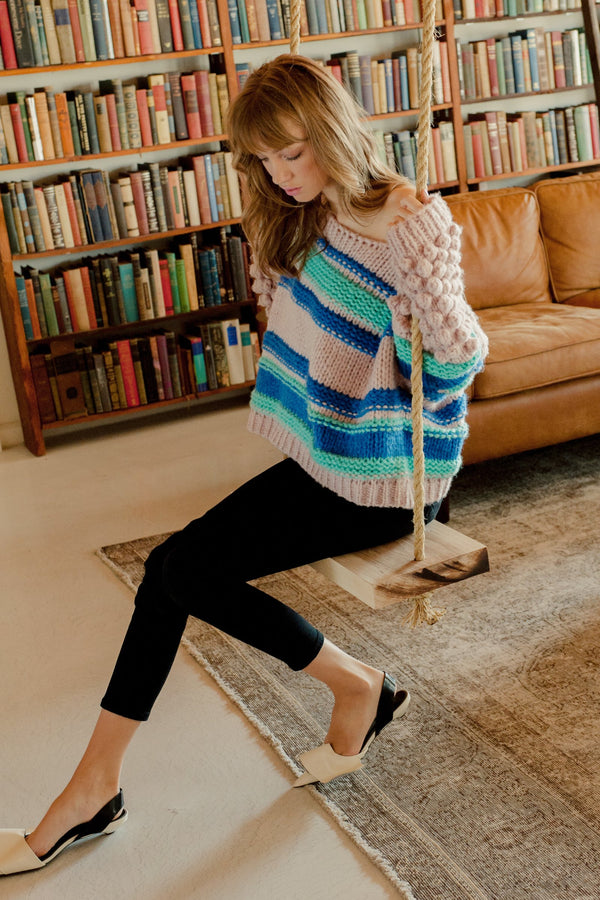 Arianna Sweater Pink in Knitwear by J.ING - an L.A based women's fashion line