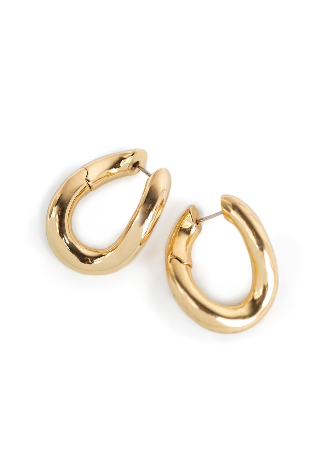 Melted Gold Earrings by J.ING women's accessories