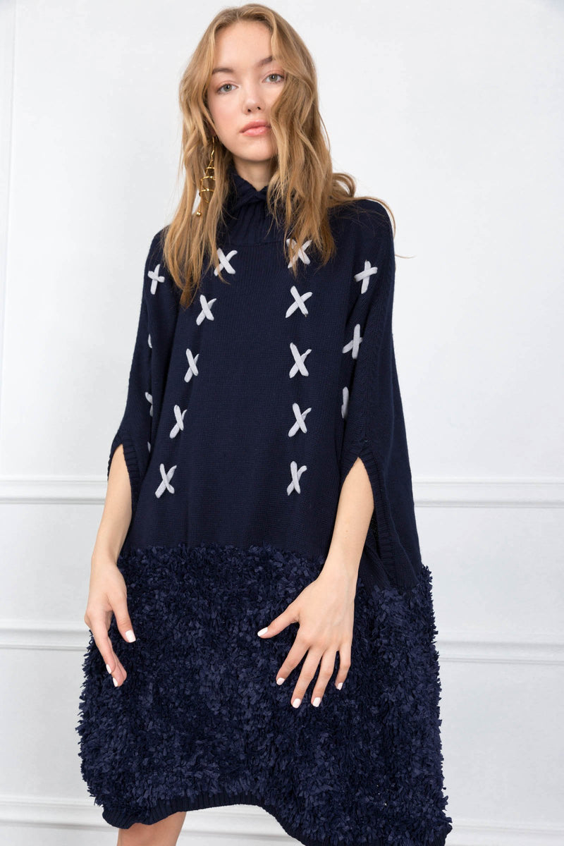 Matilda Poncho in Knitwear by J.ING - an L.A based women's fashion line